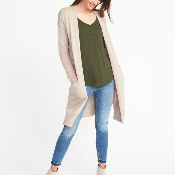 Luxe Super-Long Open-Front Cardigan. M 5a7763ad50687cdcc8b08516 516849e36